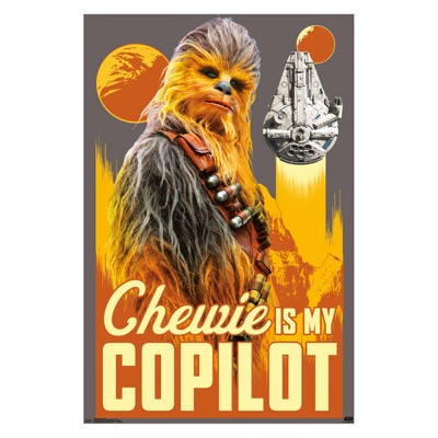 "Star Wars Han Solo Chewie Unframed Wall Poster Print 34"" x 22.38"" - Trends International"