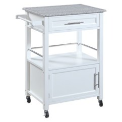 Granite Top Kitchen Cart European Cabinets Mitchell White Wood Linon Target About This Item