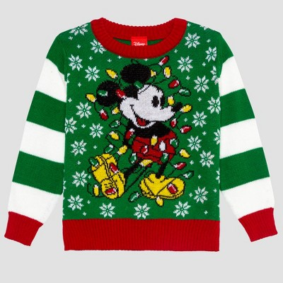 Toddler Boys' Disney Mickey Ugly Holiday Sweater - Green