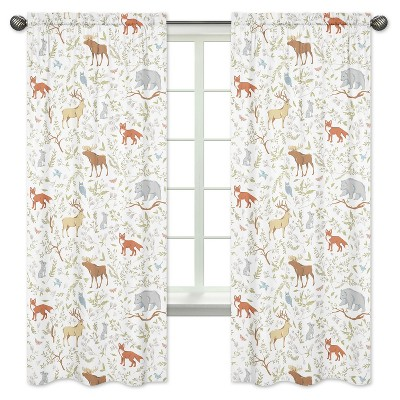 Woodland Toile Curtain Panels - Sweet Jojo Designs®