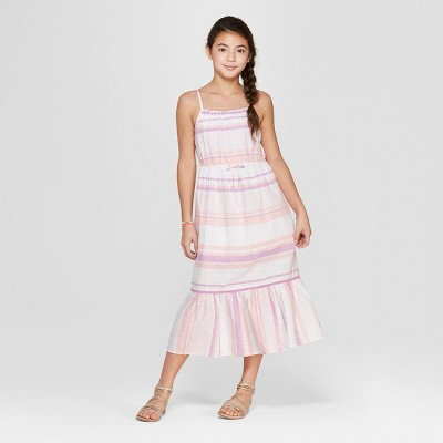 Girls' Stripe Maxi Dress - Cat & Jack™ Purple