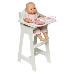 High Chair With Accessories Grey Scoop Dining Chairs Badger Basket Doll Target 1 More