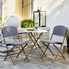 Outdoor French Bistro Chairs Chair Bedroom Caf 233 Wicker Patio Collection Threshold Target