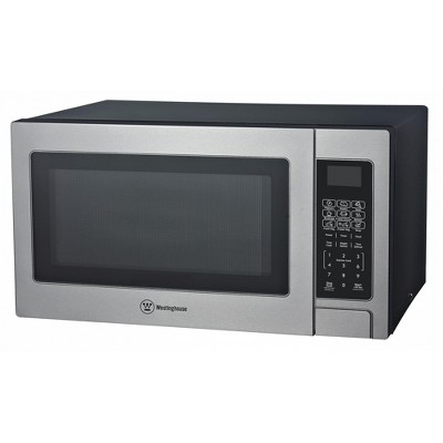 westinghouse stainless steel countertop microwave oven 1 000 watt 1 1 cubic feet