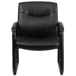 Black Side Chair Big Recliner Chairs Hercules Series 500 Lb Capacity Tall Leather Executive 1 More