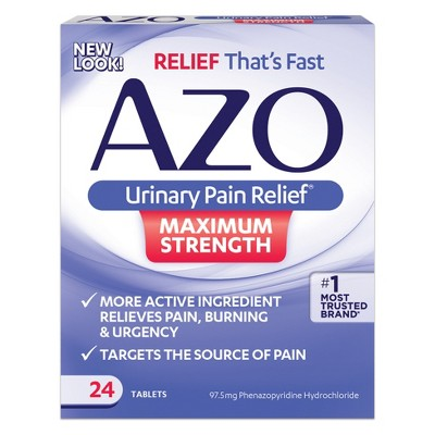 AZO Urinary Pain Relief™ Maximum Strength Tablets - 24ct ...