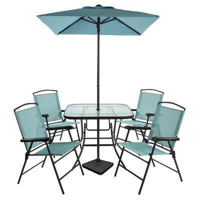 turquoise patio chairs philippe starck chair ghost 7pc metal folding dining set threshold target