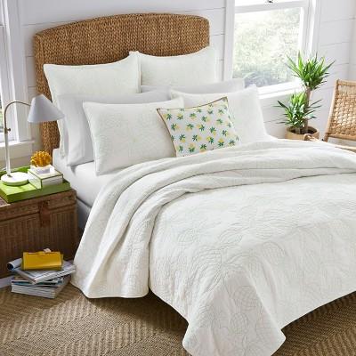 White Antigua Quilt Set - Nine Palms