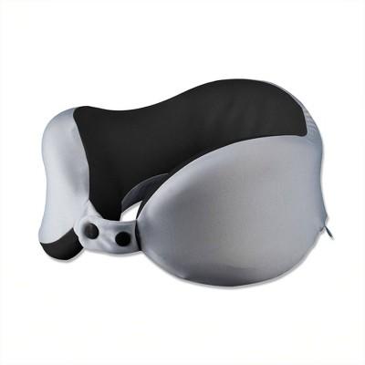 brookstone acu comfort travel neck pillow gray