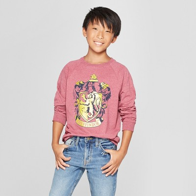 Boys' Harry Potter Crest Long Sleeve Graphic T-Shirt - Maroon