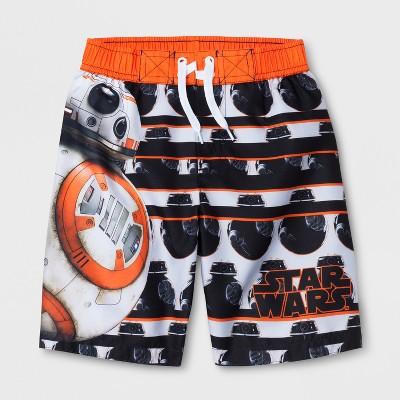 Boys' Star Wars BB-8 Swim Trunks - Orange 4