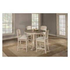 Counter Height Chairs Target Revolving Chair Price In Kerala Clarion 5pc Round Dining Set With Open Back Stools Gray Fog Fabric Hillsdale Furniture