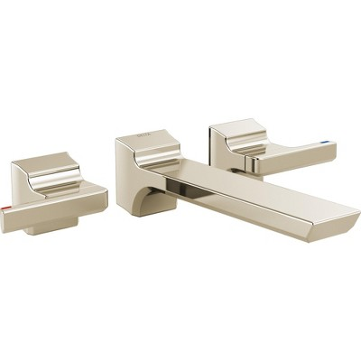 Delta Faucet T3599LF Pivotal 1.2 GPM Double Handle Wall Mounted Bathroom Faucet - Less Valves