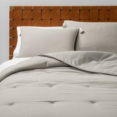 Solid Cotton Gauze Tasseled Comforter Set - Opalhouse™
