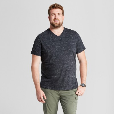 Men's Big & Tall Standard Fit Heathered Short Sleeve V-Neck T-Shirt - Goodfellow & Co™