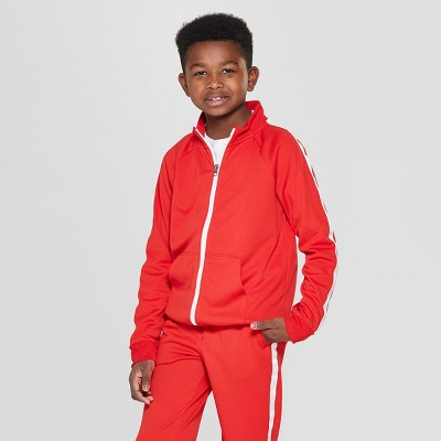 Boys' Woven Track Jacket - Cat & Jack™ Red