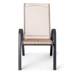 Target Sling Chair Tan Big And Tall Office Stack Patio Threshold