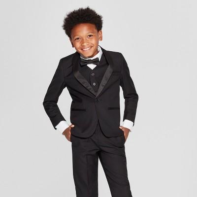Boys' Tuxedo Blazer Black - WD.NY Black