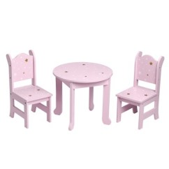 18 Doll Table And Chairs Heavy Duty Resin Patio Olivia S Little World Twinkle Stars Princess 2 Set Target