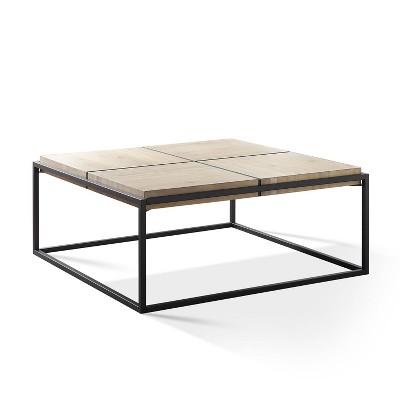 oaklee coffee table light brown dark gray steve silver co