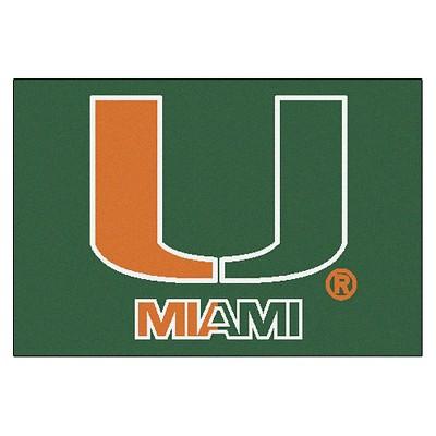 "1'6"" x 2'6"" Miami Hurricanes Starter Mat"