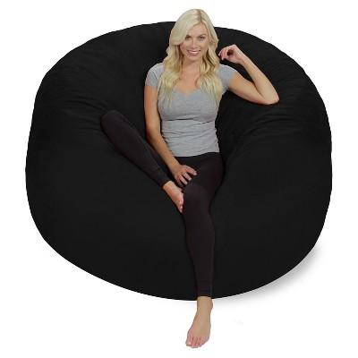 6 foot bean bag chair replacement slings australia relax sack ft huge memory foam target 7 more