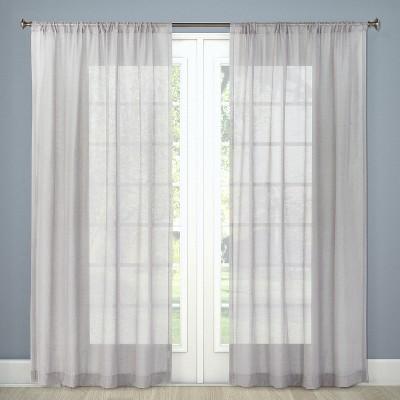 84 x54 sheer curtain panel gray threshold