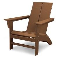 St. Croix Contemporary Adirondack Chair - Teak - POLYWOOD ...