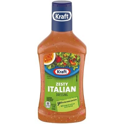 Kraft Zesty Italian Salad Dressing 16 Fl Oz Target