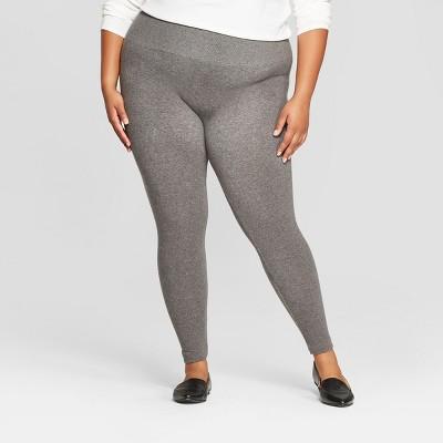 Women's Seamless Fleece Lined Leggings - Gray