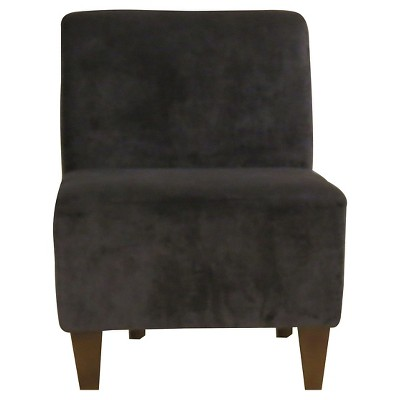 brown slipper chair lay down penelope armless godiva chocolate target fox hill trading