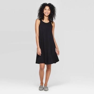 Women's Regular Fit Sleeveless Round Neck Knit Tank Dress - A New Day™