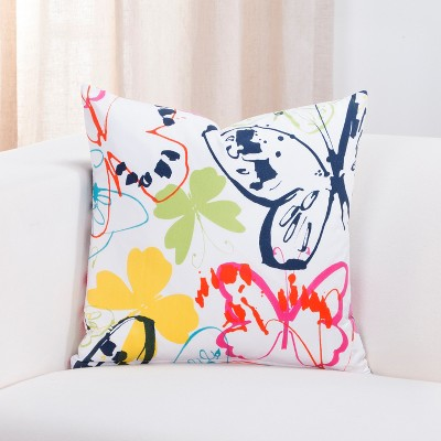 "26"" Fluttery Accent Throw Pillow With Sham - Crayola"