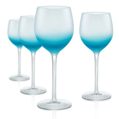 Artland 8oz 4pk Frost Shadow Goblet Glasses