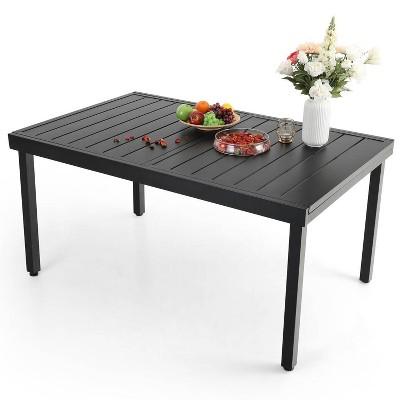 6 8 person expandable rectangular patio table captiva designs