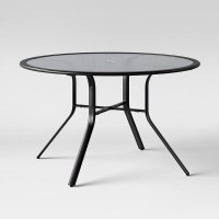 """Avalon 48"""" Round Glass Patio Dining Table - Project 62 ..."""