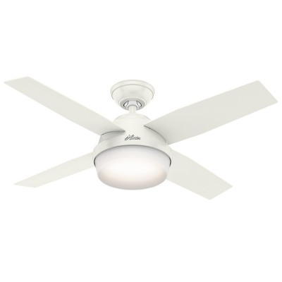 """44"""" Dempsey with Light Fresh White Ceiling Fan with Light with Handheld Remote - Hunter Fan"""