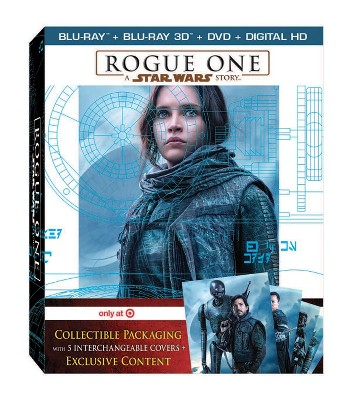 Rogue One: A Star Wars Story - Target Exclusive (Target Exclusive Bonus Disc + 3D + Blu-ray + DVD + Digital)