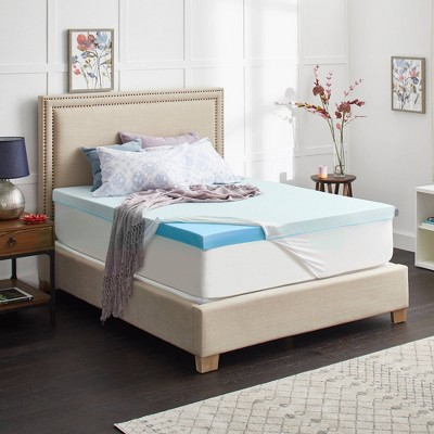 sealy king chillzone 3 gel memory foam mattress topper with cover