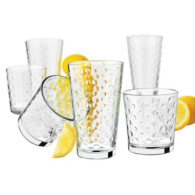 Libbey Awa Glass Drinkware 16pk Set (eight- 13oz , eight- 16oz )