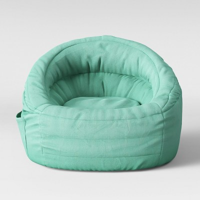 green bean bag chair hydraulic for sale cocoon with pocket pillowfort target a circle white checkmark in the center