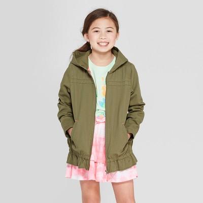 Girls' Long Sleeve Twill Jacket - Cat & Jack™ Green