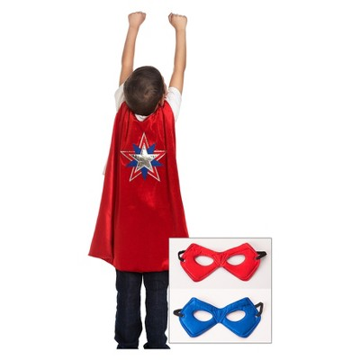 Little Adventures American Hero Cape and Power Mask Red/Blue