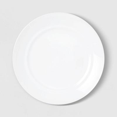 "10"" Glass Dinner Plate White - Room Essentials™"