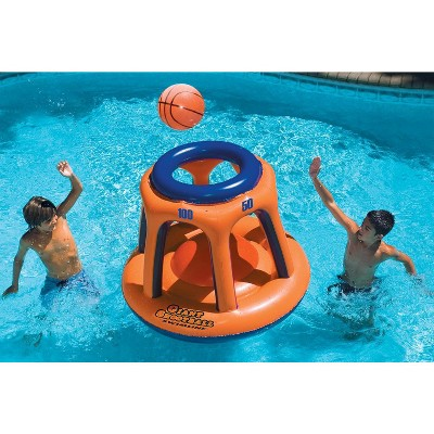 "Swim Central 48"" Inflatable Giant Floating Shootball Swimming Pool Game - Orange/Blue"