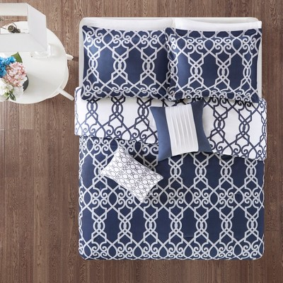 5pc Noland Reversible Print Comforter Set Navy