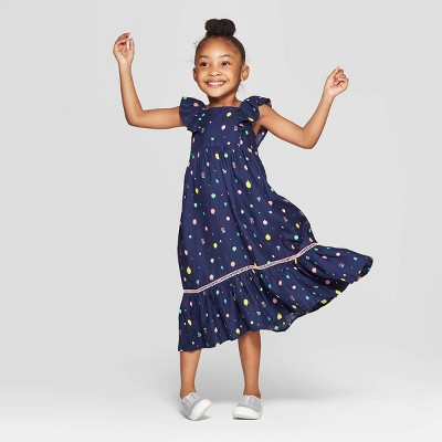Toddler Girls' Challis Maxi Dress - Cat & Jack™ Navy
