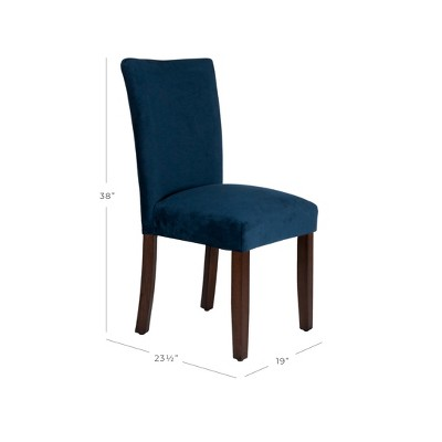 navy blue dining chairs set of 2 poang chair cover diy parson wood velvet homepop target