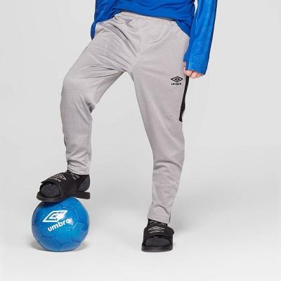 Umbro Boys' Slim Fit Soccer Training Pants - Heather Grey