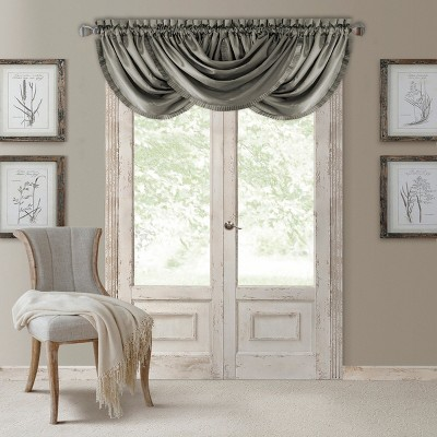 "Versailles Faux Silk Waterfall Window Valance - 52"" x 36""- Elrene Home Fashions"